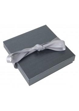 Caja de carton con lazo para collar gargantilla de joyeria bisuteria y joyas TF4170x170x40 mm.