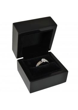 Estuche de madera lacada para anillo sortija de alta gama de joyeria y joyas M31