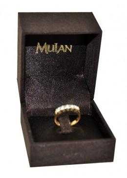 Estuche forrado de tela para anillo sortija de joyeria bisuteria y joyas B1