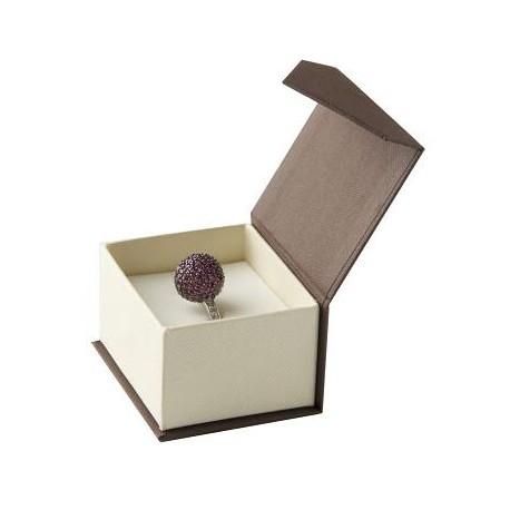 Estuche de carton con cierre imantado para anillo sortija FT01