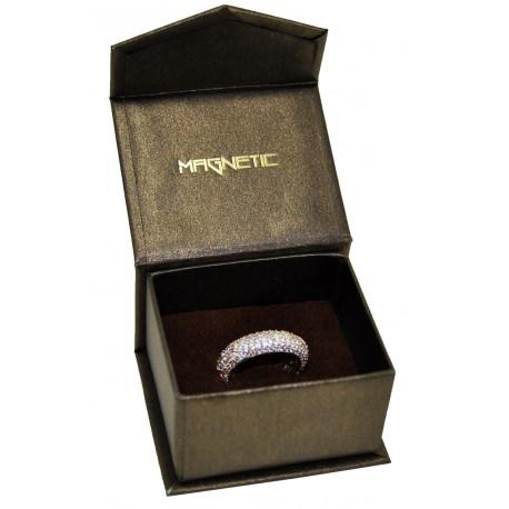 Estuche de carton con cierre imantado para anillo pendientes de joyeria bisuteria y joyas MG1