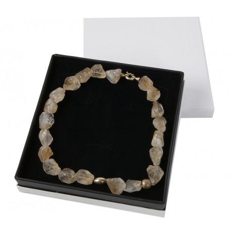 Estuche forrado en polipiel para collar gargantilla de joyeria bisuteria y joyas CL18