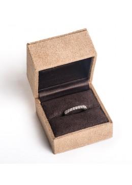 Estuche forrado material textil alta calidad para anillo sortija de joyeria y joyas CA16