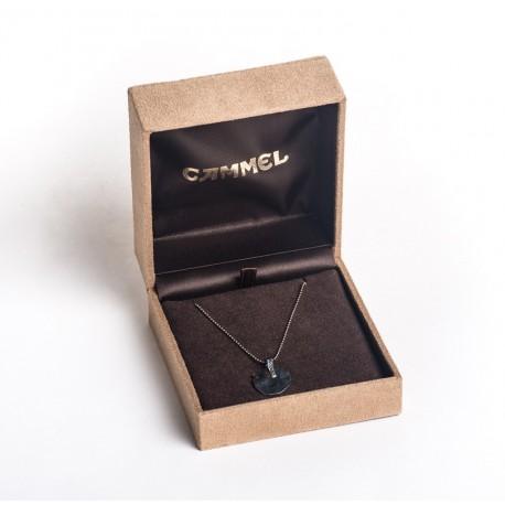 Estuche forrado material textil alta calidad para colgante de joyeria y joyas de alta gama CA66