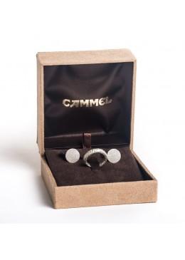 Estuche forrado material textil alta calidad para juego de anillo y pendientes de joyeria y joyas de alta gama CA66