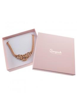 Caja de cartón para collar gargantilla de joyería y bisutería PI-18