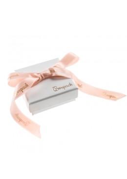 Caja de carton con lazo forrada de papel para juego y colgante de joyeria y bisuteria LIP-61