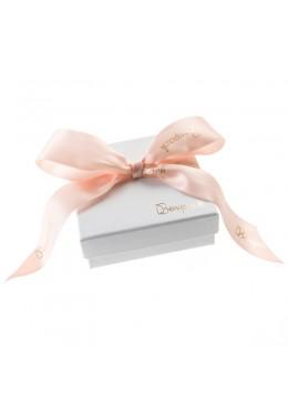Caja de carton con lazo forrada de papel para juego y colgante de joyeria y bisuteria LIP-81
