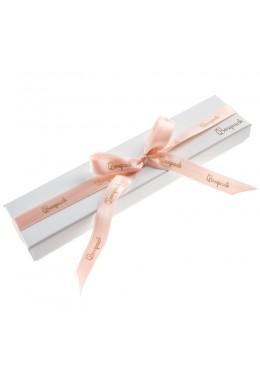 Caja de carton con lazo forrada de papel para pulsera de joyeria y bisuteria LIP-51