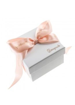 Caja de carton con lazo forrada de papel para brazalete o reloj de joyeria y bisuteria LIP-89