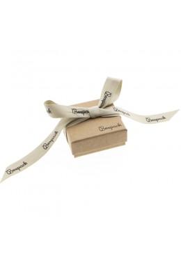 Caja de carton con lazo forrada de papel para juego y colgante de joyeria y bisuteria LNT-61