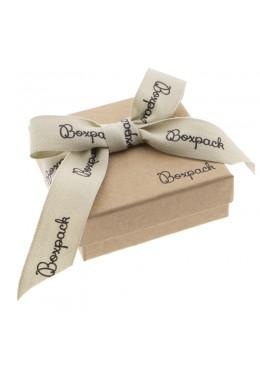 Caja de carton con lazo forrada de papel para juego y colgante de joyeria y bisuteria LNT-81