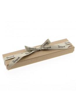 Caja de carton con lazo forrada de papel para pulsera de joyeria y bisuteria LNT-51