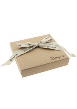 Caja de carton con lazo forrada de papel para collar o aderezo de joyeria y bisuteria LNT-18