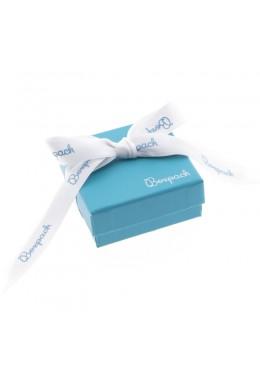 Caja de carton con lazo forrada de papel para juego y colgante de joyeria y bisuteria LSH-61