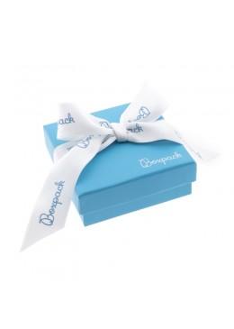 Caja de carton con lazo forrada de papel para juego y colgante de joyeria y bisuteria LSH-81