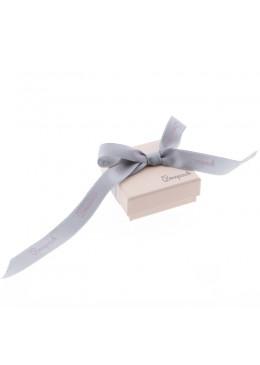 Caja de carton rosa cuarzo lazo forrada de papel para juego y colgante de joyeria y bisuteria LPI-61