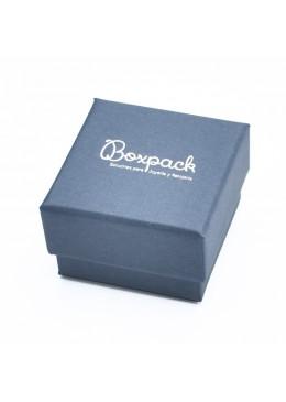 Caja de carton forrada de papel para anillo sortija de joyeria y bisuteria EP-42