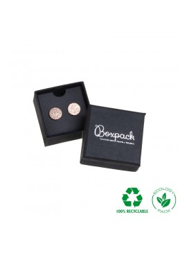 Caja ecológica de cartón para pendientes de joyería y bisutería color negro E-EP-41-P-N