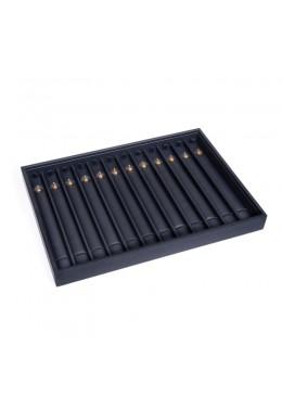 Bandeja para pulseras de joyería, bisutería y joyas 315x225x30 mm color negro JT-PU