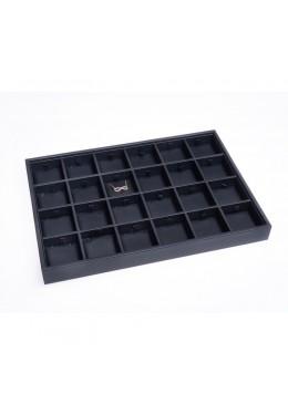 Bandeja de 24 colgantes de joyería, bisutería y joyas color negro 315x225x30 mm BJ-24C