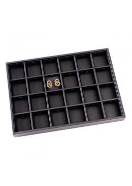 Taco para bandejas de 24 pares de pendientes de joyería, bisutería 315x225x30 mm BJ-24P