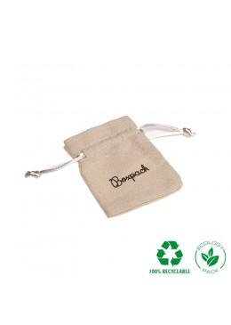 Bolsita ecológica de algodón con cordones color natural 60x80 mm NC-1