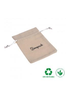Bolsita ecológica de algodón con cordones color natural 90x120 mm NC-2