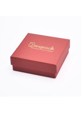 Caja de carton forrada de papel para juego colgante sortija anillo y pendientes de joyeria y bisuteria EP-81
