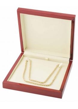 Estuche de madera para collar gargantilla de joyeria y joyas M24