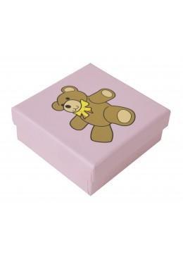 Caja de carton para pendientes y colgante chupetero de bebe infantil para joyas joyeria y bisuteria SP81