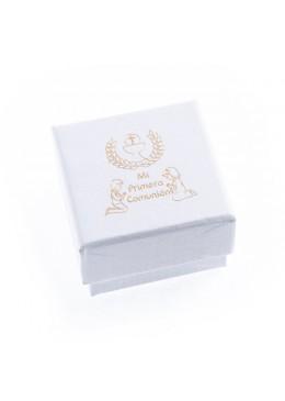Caja de carton de comunion anillo pendientes joyeria bisuteria joyas CMP42