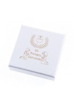Caja de carton de comunion para anillo pendientes colgante de joyeria bisuteria joyas CMP61