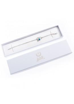 Caja de carton de comunion para pulsera extendida de joyeria bisuteria joyas CMP51
