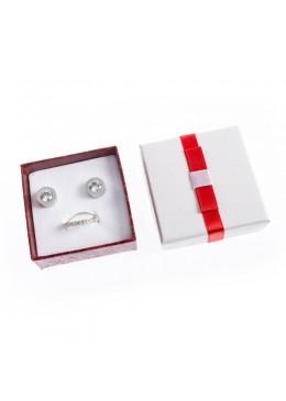 Caja de carton imitacion cocodrilo para pendientes de joyeria bisuteria y joyas SW-61
