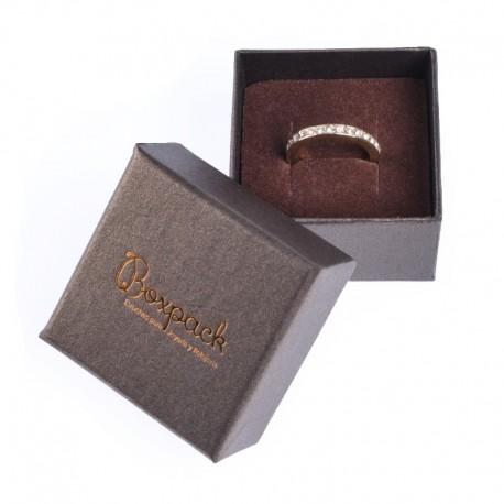 Caja de carton efecto perlado para anillo o pendientes Q-42