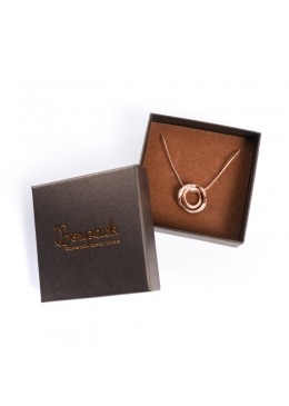 Caja de carton efecto perlado para colgante de joyeria bisuteria joyas Q-81