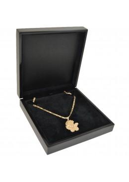 Estuche de madera lacada para collar gargantilla de alta gama de joyeria y joyas M36