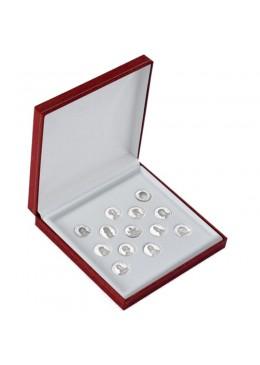Estuche forrado de imitacion piel para Arras de 20 mm de boda matrimonio joyeria joyas