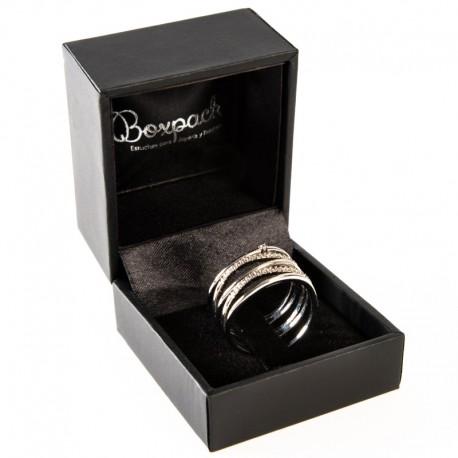 Estuche forrado en polipiel para anillo sortija de joyeria bisuteria y joyas C-2-SP