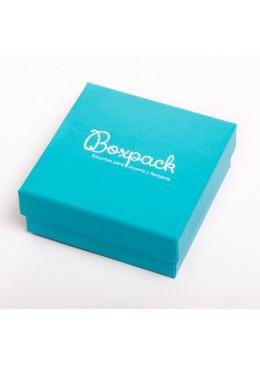 Caja de carton plastificado mate para pendientes de joyeria bisuteria y joyas SH61