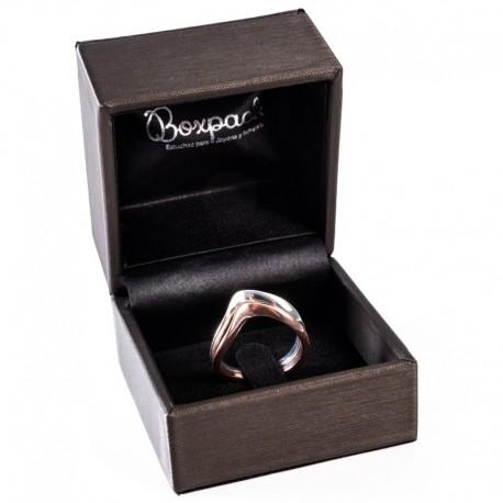 Estuche forrado imitacion seda para anillo sortija patilla de joyeria y joyas S-16-SP