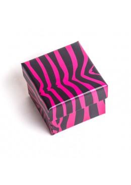 Caja de carton para anillo sortija o pendientes de joyeria bisuteria y joyas AP42