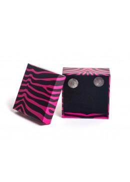 Caja de carton para juego de pendientes y sortija mas colgante de joyeria bisuteria y joyas AP61