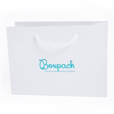 Bolsa de papel mate para joyeria bisuteria y relojeria B-LA
