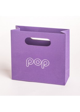 Bolsa de papel de asa troquelada para joyeria bisuteria y joyas BPO-M