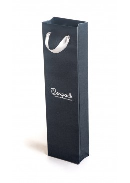 Bolsa de papel con asa de cinta de raso para joyeria bisuteria y relojeria BQ-B