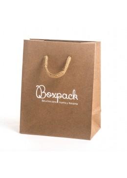 Bolsa de papel Kraft para joyeria bisuteria y relojeria BK-M