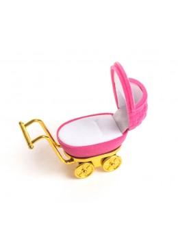 Estuche en forma de carrito de bebe para joyeria y joyasinfantiles