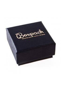 Caja de carton forrada alta calidad para Pendientes de joyeria y bisuteria P-41
